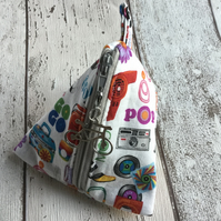 Groovy 60's  Themed Fabric Pyramid Purse