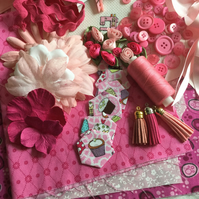 Pink Themed Fabric & Haberdashery Collection