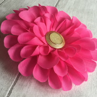 Hand Made Pink Fabric Flower Corsage