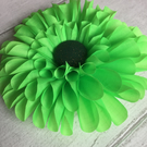 Vivid Green Fabric Flower Corsage