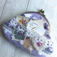 Lavender Scented Memento Fabric Clasp Purse & Matching Tag (Prototype)