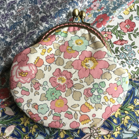 Floral Liberty Fabric Clasp Coin Purse