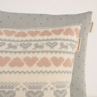 Folklore Cushion  pale grey