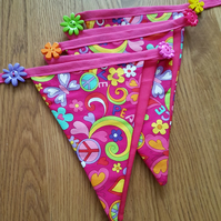 Peace Love & Butterflies Bunting