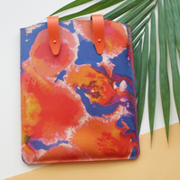 'Tropical Solstice Utopia' Printed Leather iPad Case