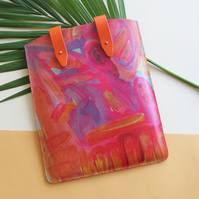 'Tropical Solstice' Printed Leather iPad Case