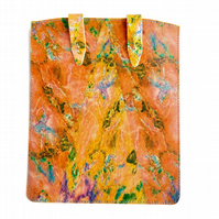 'Peach Marble' Printed Leather iPad Case