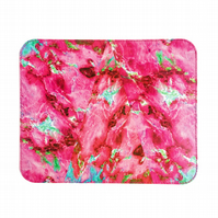 'Pink Marble' Printed Leather Mouse Mat