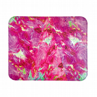 'Purple Marble' Printed Leather Mouse Mat