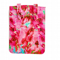 'Pink Marble' Printed Leather Kindle Case