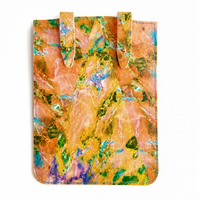 'Peach Marble' Printed Leather Kindle Case