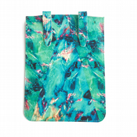 'Turquoise Marble' Printed Leather Kindle Case