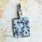Black Marble 'Hamisi' Printed Leather Luggage Tag