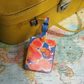 Tropical Citrus 'Hamisi' Printed Leather Luggage Tag