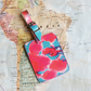 Tropical Fandango 'Hamisi' Printed Leather Luggage Tag