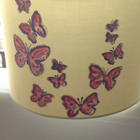 Handpainted lampshade for table lamp