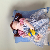 Belle hand made folk style doll