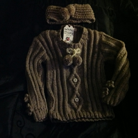 Hand knitted jumper set 2-3