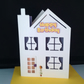 House shaped birthday card