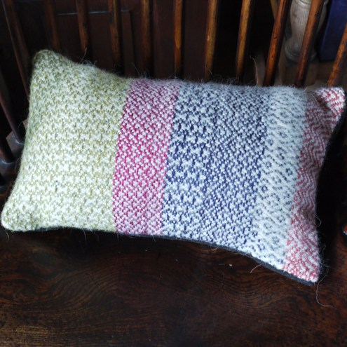 One-off hand woven cushion