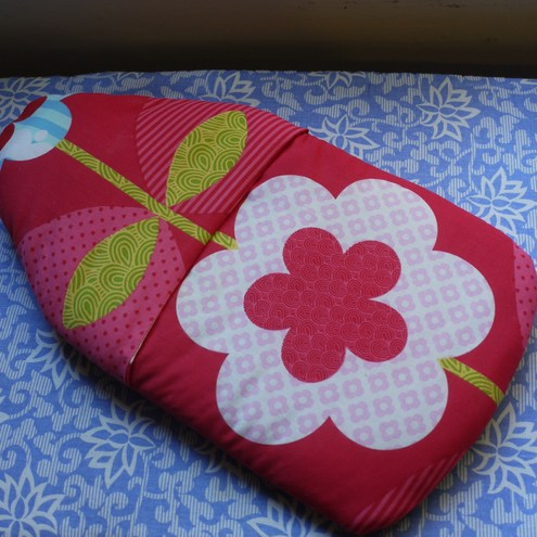 Upcycled padded hot water bottle cover (with bottle)