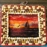 Needle Felted Hanging Picture: Heavens Ambience