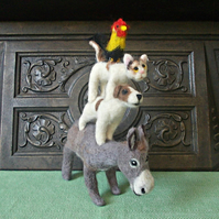 Needle Felted Town Musicians of Bremen