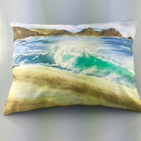 Watercolour Cushion, Cornwall