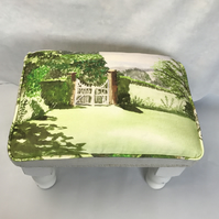 Watercolour  Footstool