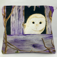 Velvet Owl Makeup Bag