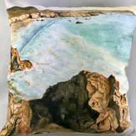 Coastal Watercolour Cushion