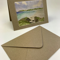 The Gower Watercolour Textile Greetings Card