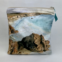 Coastal Watercolour Makeup Bag