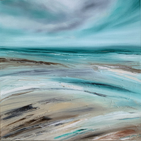 Original Oil Painting, seascape painting, abstract art