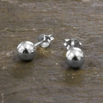 Sterling Silver Ball Earrings - Tiny, Ball Stud Earrings, Silver Ball Earrings