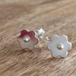 Small Flower Sterling Silver Stud Earrings, Sterling Silver Stud Earrings