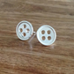 Button Sterling Silver Stud Earrings, Sterling Silver Earrings