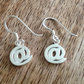 Sterling Silver Dangle AT Earrings, Sterling Silver Earrings, Computer Earrings