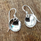 Sterling Silver Domed Earrings, Silver Earrings, Domed Silver Earrings