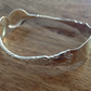 1919 Sterling Silver Vintage Sugar Tongs Bangle, Vintage Bracelet
