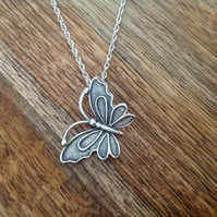 Butterfly Necklace, Sterling Silver Jewellery, 925 Silver Butterfly Necklace