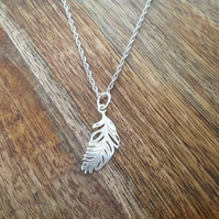 Feather Necklace, Sterling Silver Jewellery, 925 Feather Necklace, Celestial