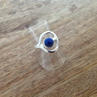 Lapis Lazuli Ring, Sterling Silver Jewellery, 925 Silver Ring, Gemstone Ring