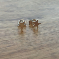 Star Stud Earrings, Sterling Silver Jewellery, 925 Star Earrings, Star Earrings