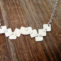 Square Frenzy Sterling Silver Necklace