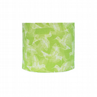 Lime Green Spring Hummingbirds 20cm Lampshade