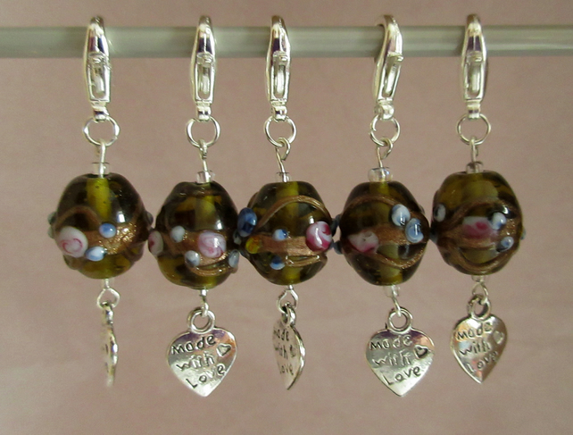 Lampwork Bead Stitch Markers