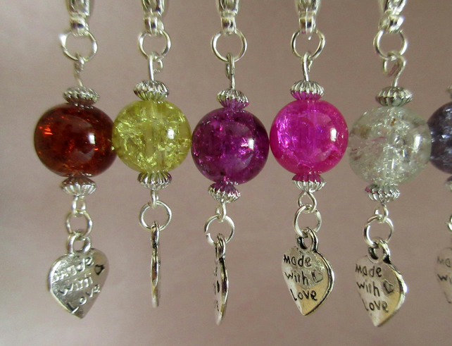 Crackle Bead Stitch Markers