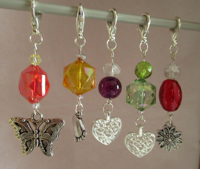 Sparkly Stitch Markers