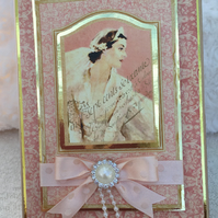 Bride's keepsake box with candle